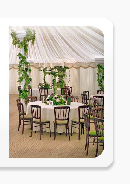 quality chair and furniture hire in essex and the surrounding south east area for banquets and marquee events